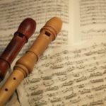 2本のアルトリコーダーとバロック時代の楽譜