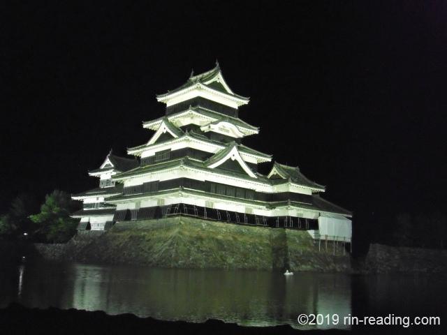 夜の松本城天守